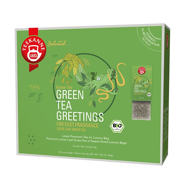 Teekanne Selected Green Tea Greetings Luxury Bag - 20 Kannenportionen à 4 g