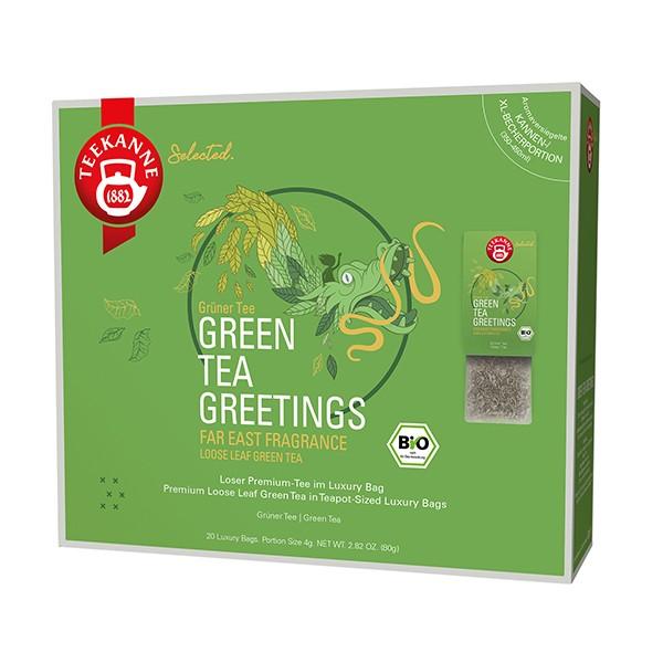 Teekanne Selected Green Tea Greetings Luxury Bag - 20 Kannenportionen à 4 g