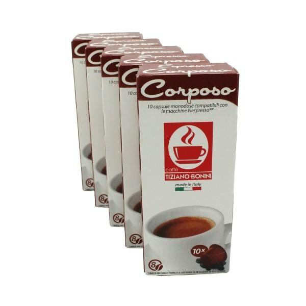 Caffè Bonini Corposo 50 Kompatible Kapseln Nespresso ®*