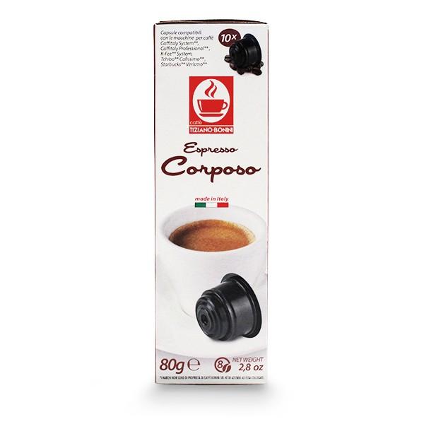 Caffè Bonini CORPOSO - 10 kompatible Kapseln Caffitaly ®* K-Fee ®* Tchibo ®*