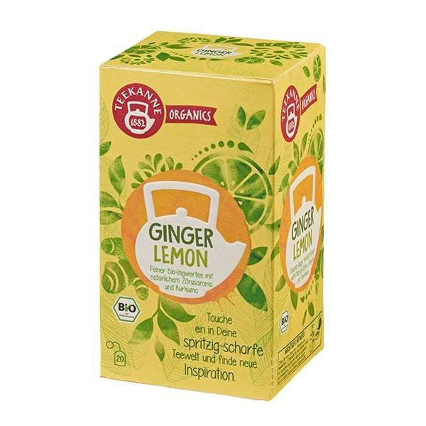 Teekanne Organics Ginger Lemon - 20 Teebeutel