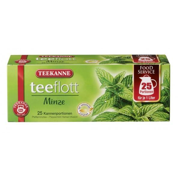 Teekanne Teeflott Kannenbeutel Pfefferminztee 25 Stück