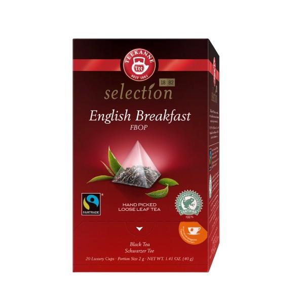 Teekanne Luxury Cup English Breakfast 20 Pyramidenbeutel **