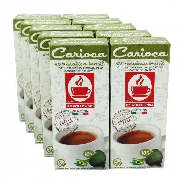 Caffè Bonini Carioca 100 Kompatible Kapseln Nespresso ®*