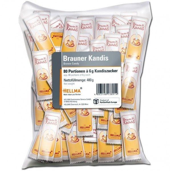 Hellma Brauner Kandis - 80 x