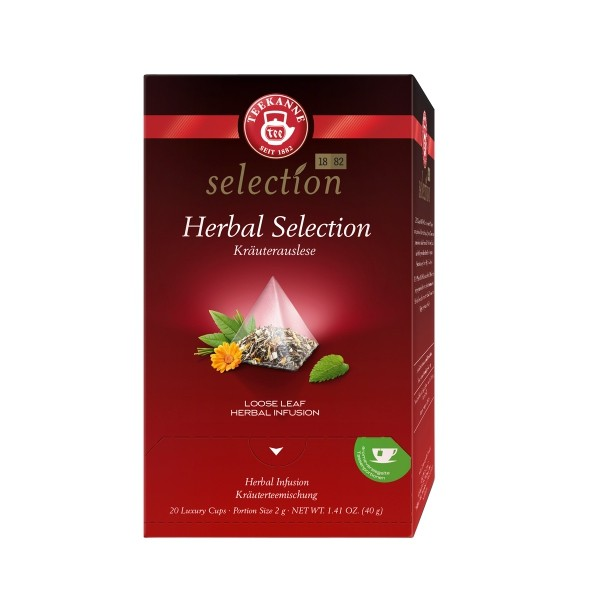 Teekanne Luxury Cup Herbal Selection 20 Pyramidenbeutel