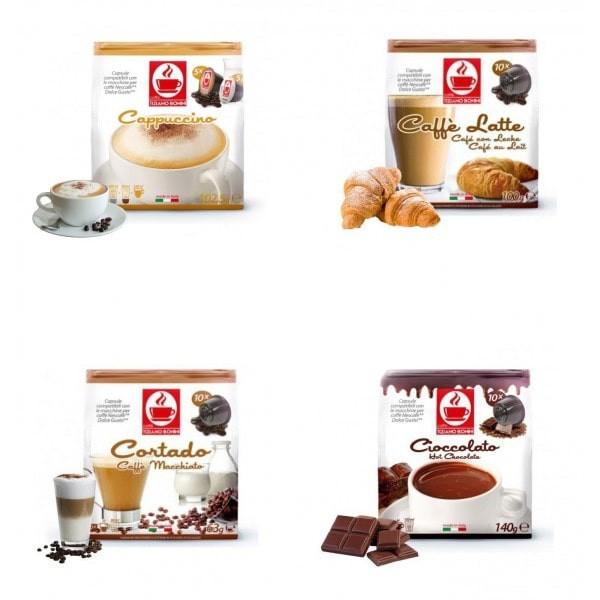 Caffè Bonini Probierset 4 Sorten Flavoured Dolce Gusto ®*