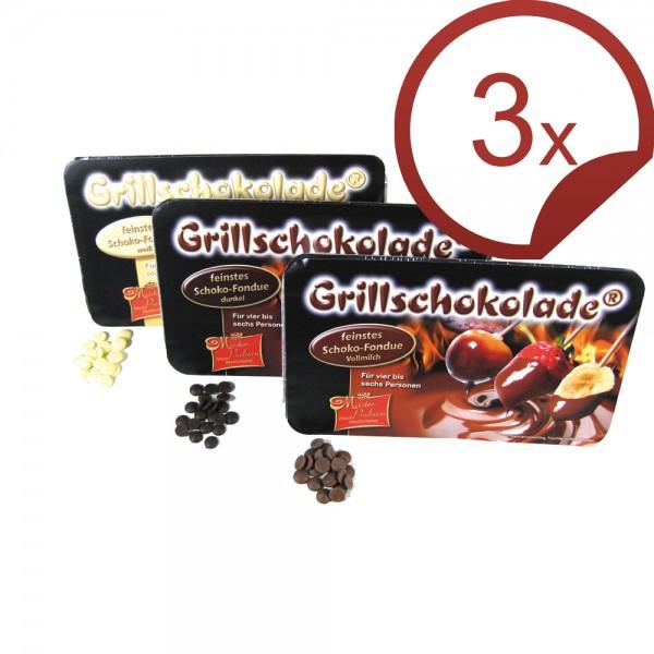 Grillschokolade 3er Mix