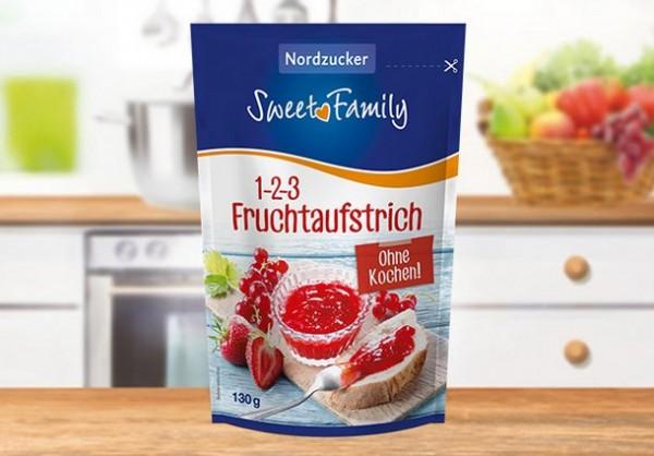 Nordzucker 1-2-3 Fruchtaufstrich/Gelierzucker 130 g - OHNE KOCHEN!
