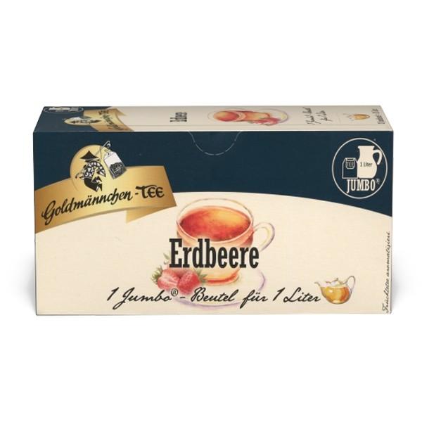 Goldmännchen Tee JUMBO Erdbeer-Sahne - 20 Beutel