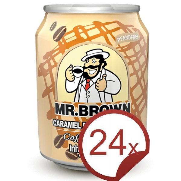Mr. Brown Caramel Flavour Latte Coffee-Drink 24er Pack