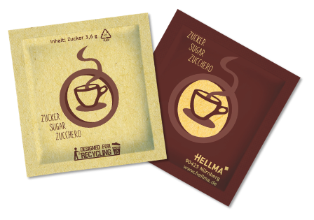Hellma Zucker Sachets 2000 x 3,6 g nachhaltig