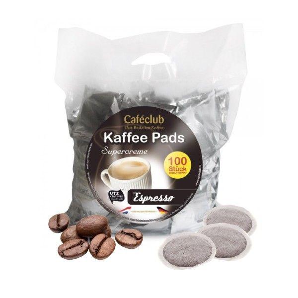 Kaffeepads Caféclub Megabeutel Espresso 100 Pads