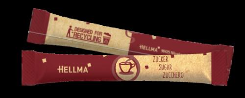 Hellma Zuckersticks 1000 x 4 g in nachhaltiger Verpackung