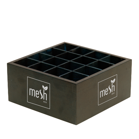 Mesh Tee Holzdispenser Klein fuer bis zu 48 Mesh Tea Sticks