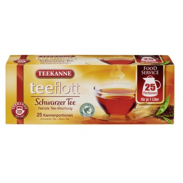 Teekanne Teeflott Kannenbeutel Schwarzer Tee 25 Stück