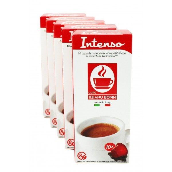 Caffè Bonini Intenso 50 Kompatible Kapseln Nespresso ®*