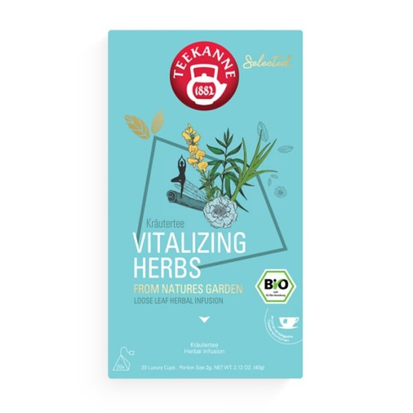 Teekanne Selected Vitalizing Herbs Luxury Cup - 20 x 2 g