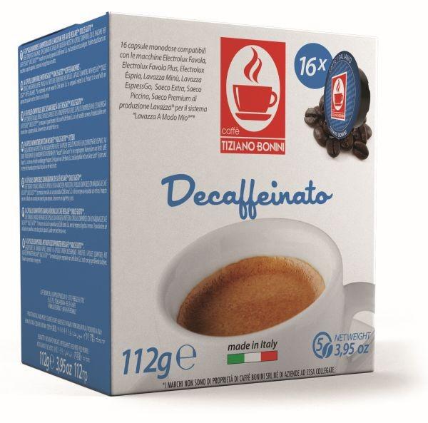 Caffè Bonini DECAFFEINATO - 16 Kompatible Kapseln Lavazza A Modo Mio ®* - MHD: 02.02.2020