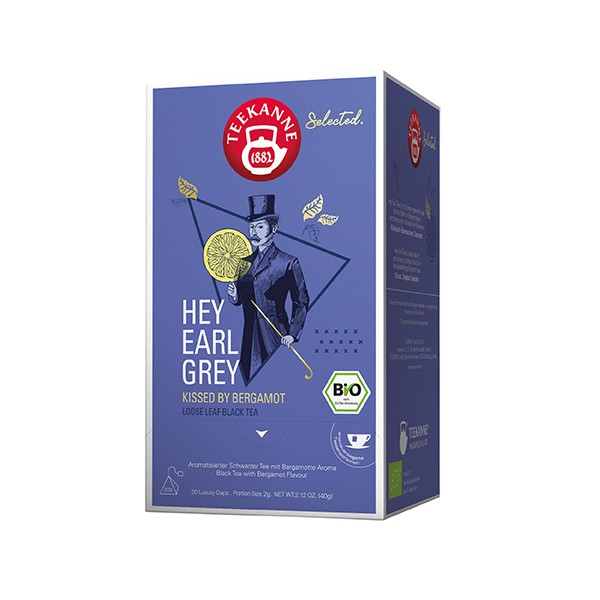 Teekanne Selected Hey Earl Grey Luxury Cup - 20 Pyramidenbeutel à 2 g
