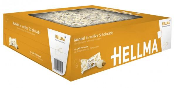 Hellma Mandel in weißer Schokolade ca. 380 St.