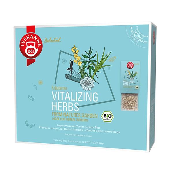 Teekanne Selected Vitalizing Herbs Luxury Bag - 20 Kannenportionen à 3 g