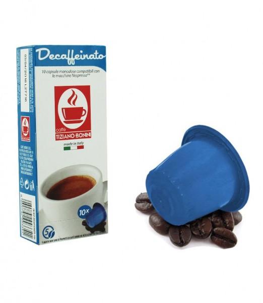 Caffè Bonini DECAFFEINATO - 10 Kompatible Kapseln Nespresso ®*