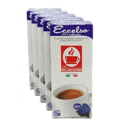 Caffè Bonini Eccelso 50 Kompatible Kapseln Nespresso ®* - MHD überschritten: 19.08.2019