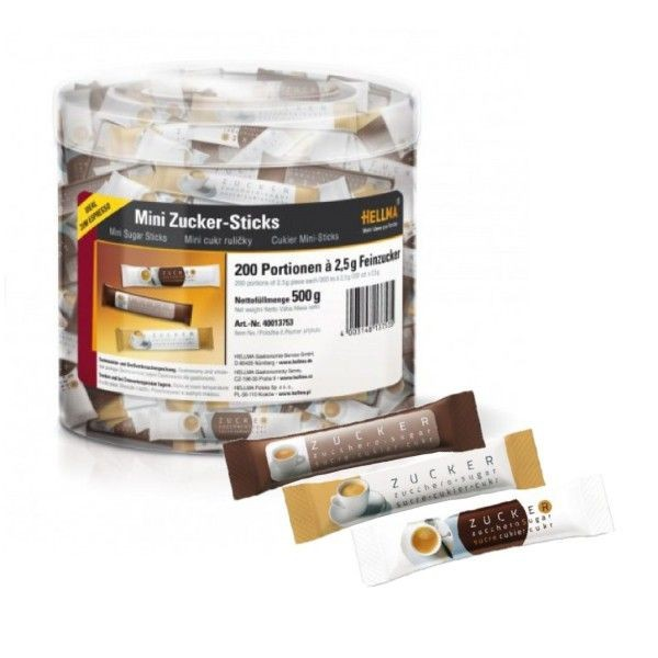 Hellma Mini Zucker Sticks Espresso 200 x 2,5 g