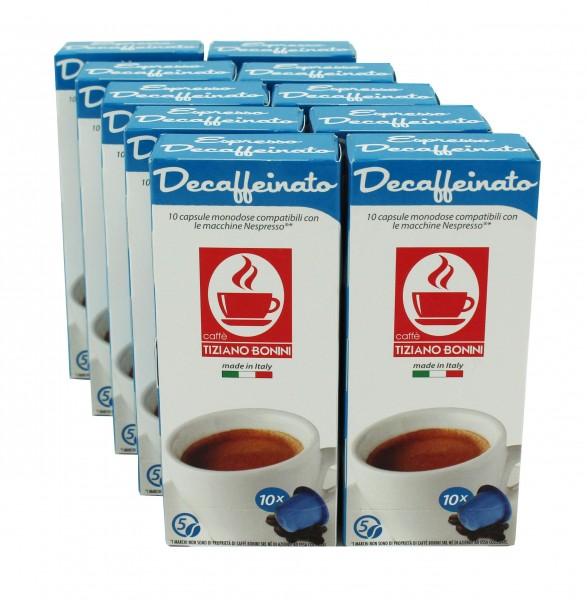 Caffè Bonini DECAFFEINATO - 100 Kompatible Kapseln Nespresso ®*