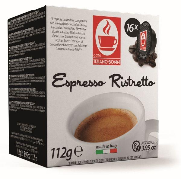 Caffè Bonini RISTRETTO -16 Kompatible Kapseln Lavazza A Modo Mio ®* **