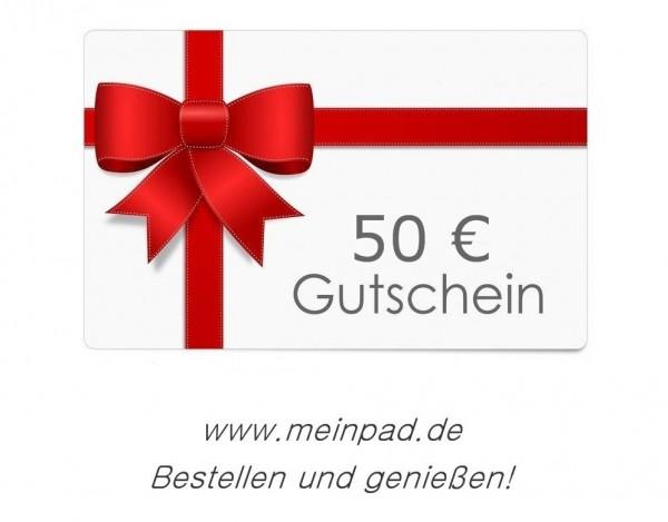 meinpad.de GUTSCHEIN 50,00 Euro Geschenkgutschein
