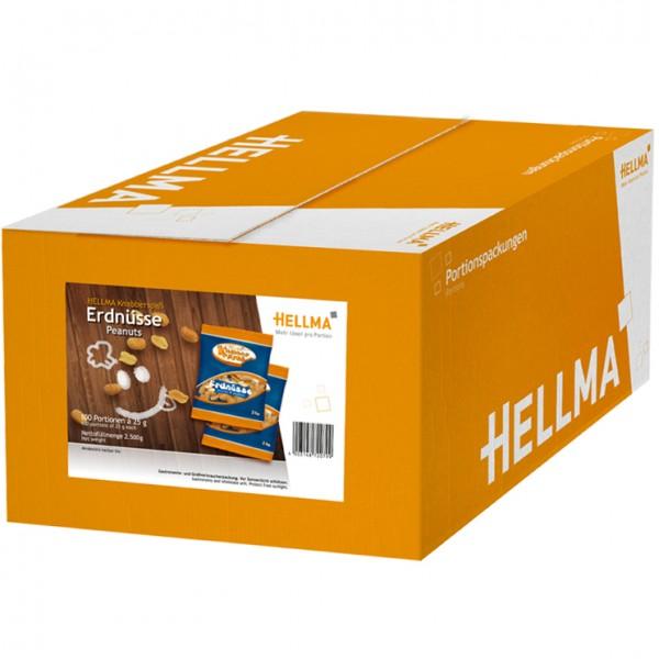 Hellma Knabberspaß Erdnüsse 100 x 25g