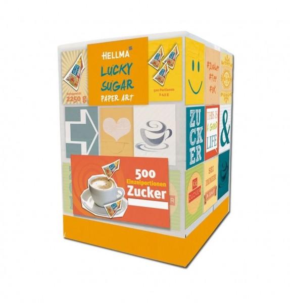 Hellma Lucky-Sugar PAPER ART - 500 x 4,5 g