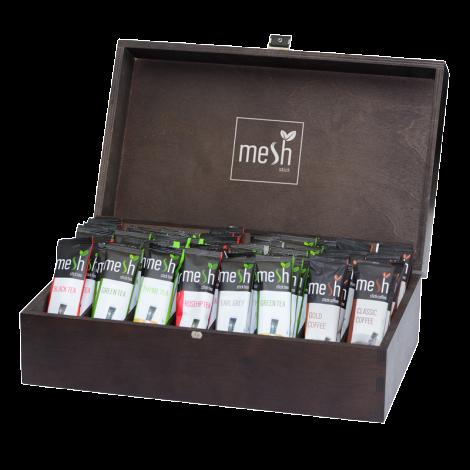Mesh Tee Holzdispenser Gross für bis zu 80 Mesh Tea Sticks