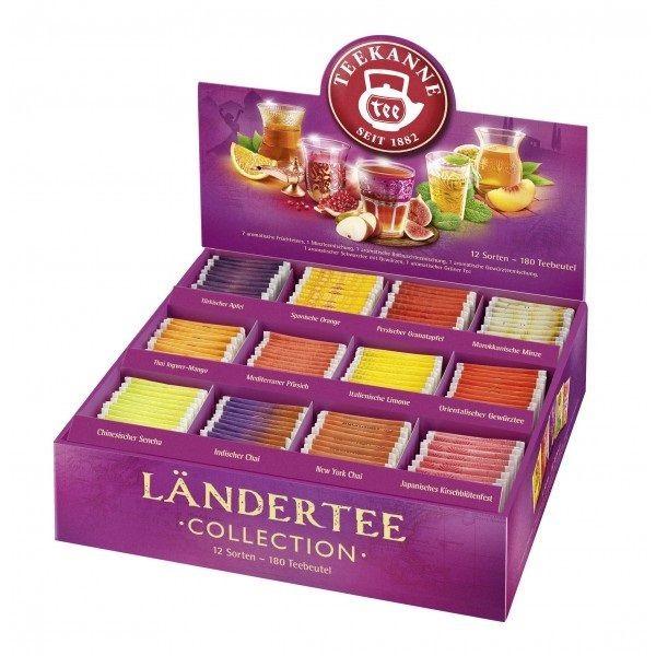 Teekanne Ländertee Collection Box 180 Beutel