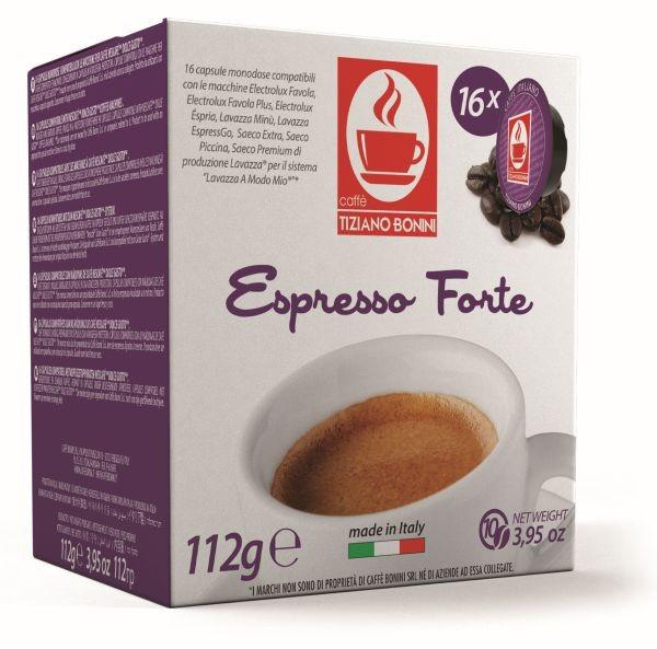 Caffè Bonini FORTE - 16 Kompatible Kapseln Lavazza A Modo Mio ®*