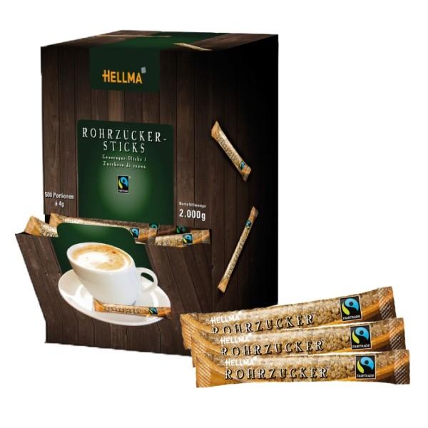 Hellma Fairtrade Rohrzuckersticks 500 x 4 g