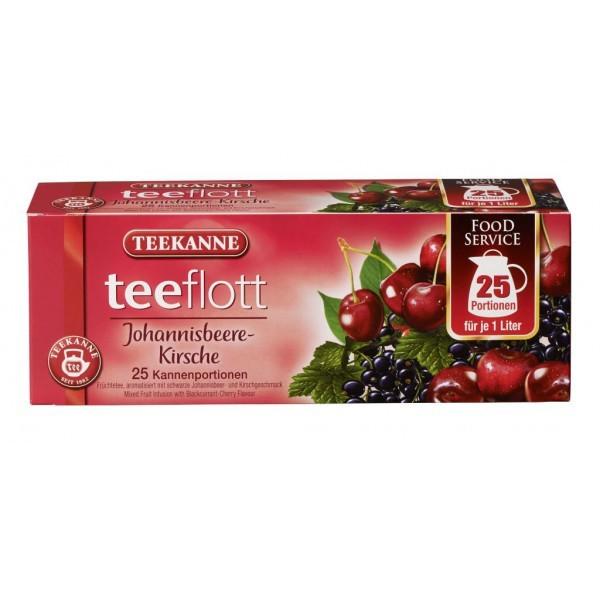 Teekanne Teeflott Johannisbeere-Kirsche Kannenbeutel 25 Stück