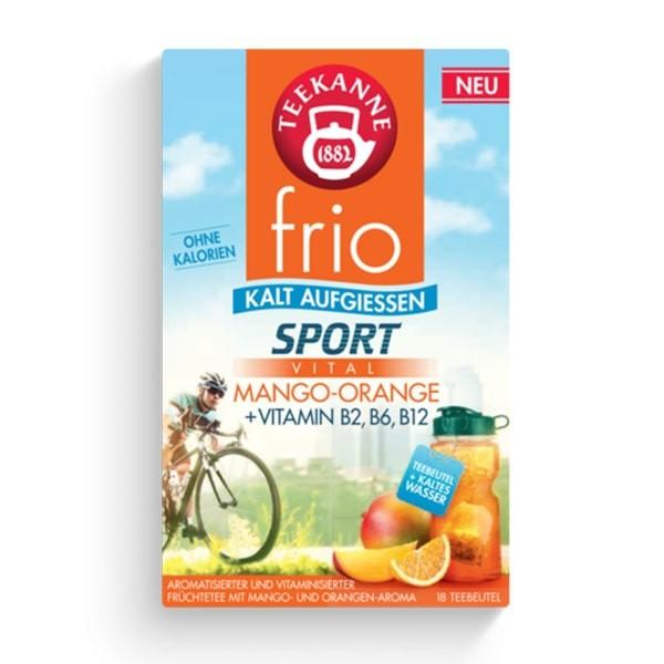 Teekanne FRIO Sport Vital Mango-Orange 18 Stück