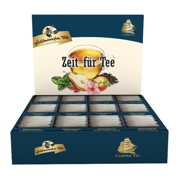 """Goldmännchen Tee Selektions-Box mit 12 Teesorten """"Zeit für Tee"""""""