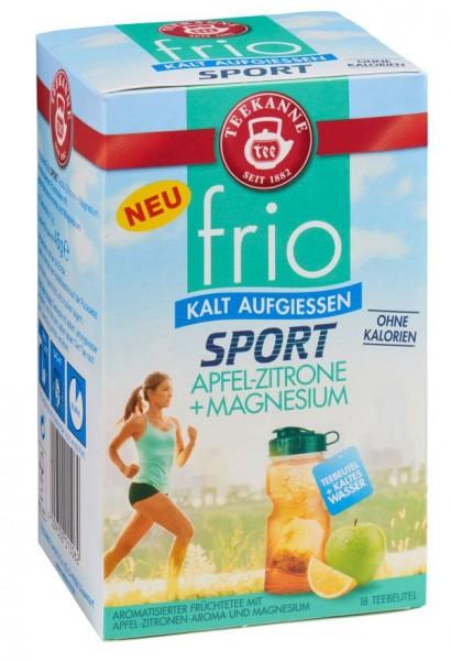 Teekanne FRIO Sport Apfel-Zitrone + Magnesium 18 Beutel