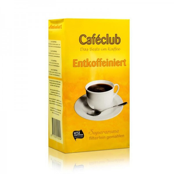 Filterkaffee Caféclub Entkoffeiniert 500g gemahlen