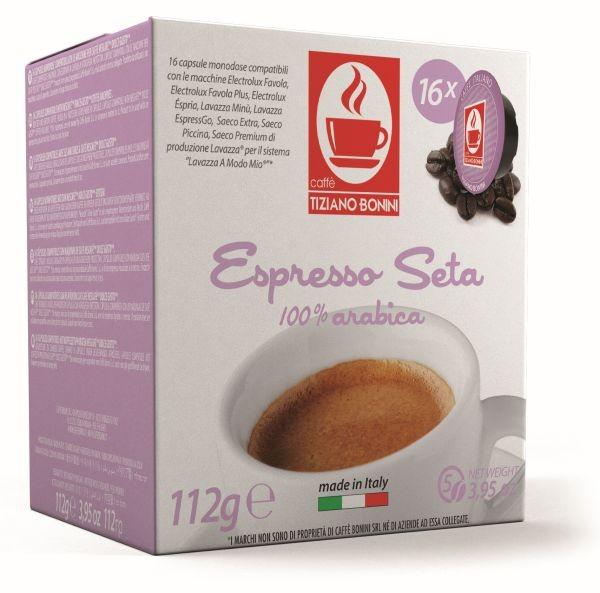Caffè Bonini SETA - 16 Kompatible Kapseln Lavazza A Modo Mio ®* - MHD: 07.12.2019