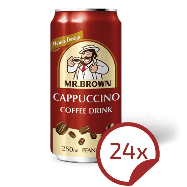 Mr. Brown CAPPUCCINO Coffee-Drink 24er Pack