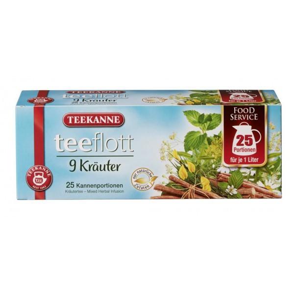 Teekanne Teeflott 9 Kräuter Kannenbeutel 25 Stück