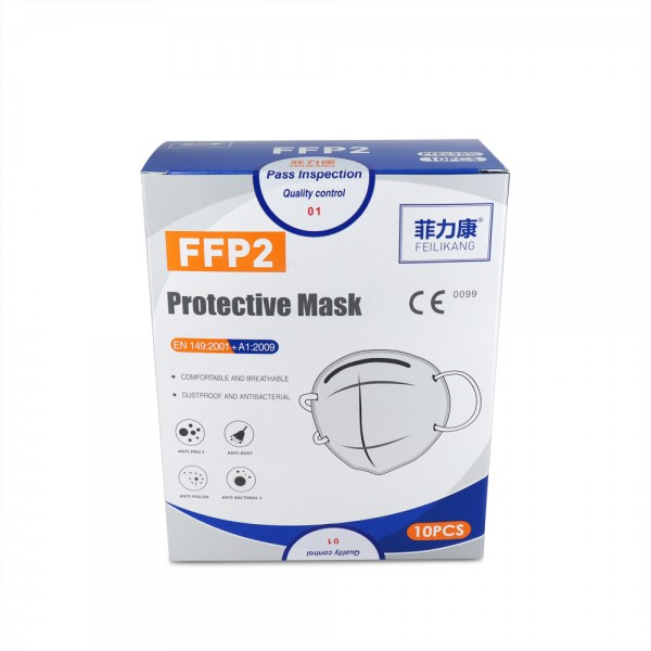 FFP2 Schutzmaske 10 Stück, EN149:2001 + A1:2009, CE0099