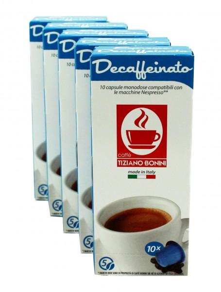 Caffè Bonini DECAFFEINATO - 50 kompatible Kapseln Nespresso ®*