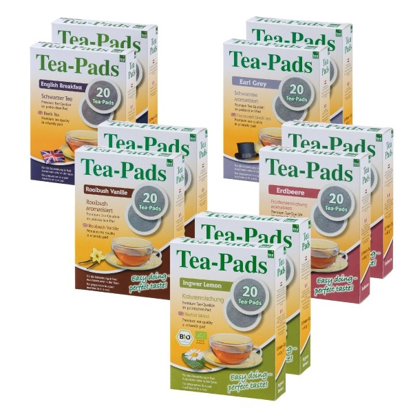 Teepads Tea-Friends 5 Sorten Mix 10 x 20 Pads