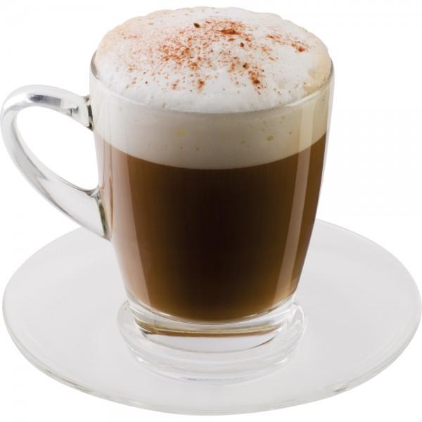 Scanpart Cappuccino- und Untertassen 2 Stück Glas